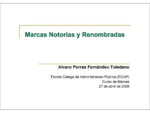 Presentación Álvaro Porras Fernández-Toledano, Avogado  - Curso de Marcas
